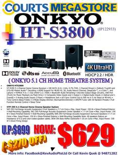ONKYO HTS3800 5.1 Channel Home Theatre System