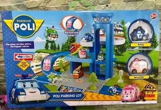 Robocar poli parking lot set (w/ lift)