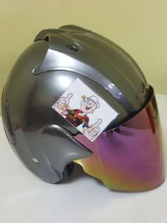 0706** ARC RITZ GLOSSY GREY Helmet For Sale 😁😁Thanks To All My Buyer Support 🐇🐇 Yamaha, Honda, Suzuki