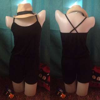 Black Criss-Cross Back Romper