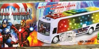 Captain america bus w/ light and sound