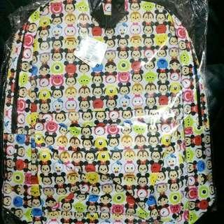 Disney 迪士尼 Tsum Tsum 彩色 背囊 背包 書包 景品 40cm高 全新正版有吊牌