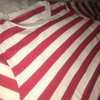 [Sale] Red & White Stripes Top
