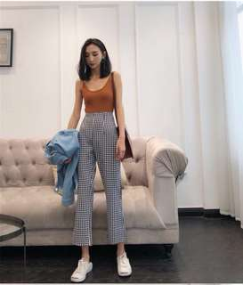 Retro Checkered Pants