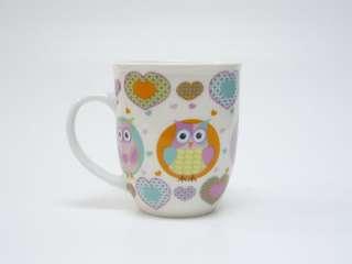 單杯粉色貓頭鷹杯 Ceramics Mug, Porcelain Mug
