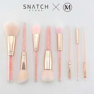 Snatch MKW銀河系 玫瑰金粉紅晶鑽刷具 粉底刷