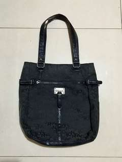 Kenneth Cole Reaction Black Monogram Tote Bag
