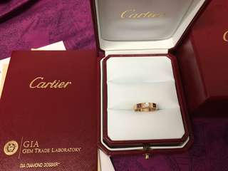 Cartier 18k rose gold size 52