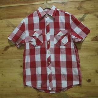 Budweiser shadow plaid shortsleeve shirt original