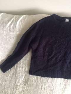 Navy knit sweater