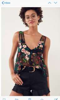 Urban outfitters embroidered top BNWT
