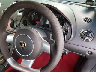 Lamborghini Gallardo Alcantara Steering Wheel and Side Skirts For Quick Sale Promotion Steal Cheap
