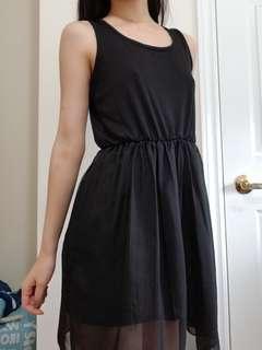 Black Tank A-Line Dress