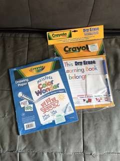 Crayola drawing paper and learning book