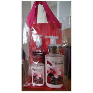 Bath & Body Works Japanese Cherry Blossom Gift Set