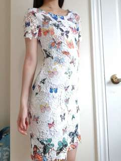Butterfly Lace Dress