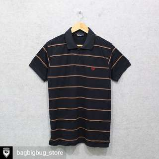 FRED PERRY Stripe Poloshirt -Size: M