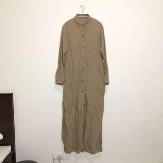 🚚 棉麻棕色襯衫外套