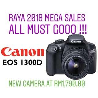 (NEW) CANON EOS 1300D WIFI DSLR CAMERA