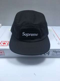Supreme 17ss nyco twill camp cap 厚貼布