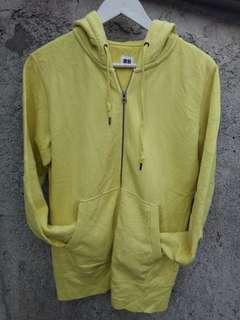 Zipper hoodie uniqlo kuning