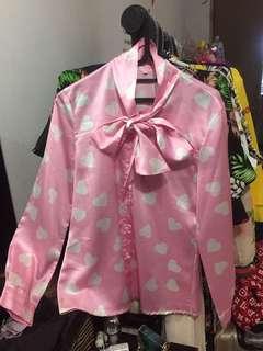 kemeja moschino pink