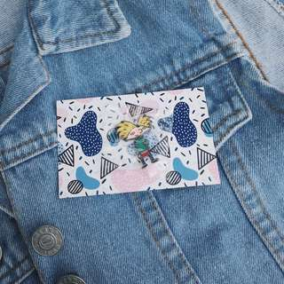 Hey Arnold Metal Pins