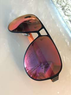 "Gucci ""Navigator"" Orange Sunglasses"