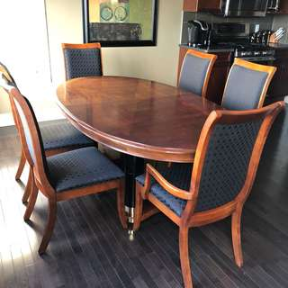 Family Dining Table, Leaves, Chairs