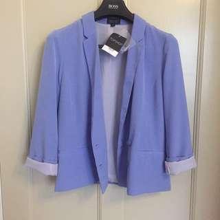 BNWT Topshop Cornflower Blue Double Breasted Blazer
