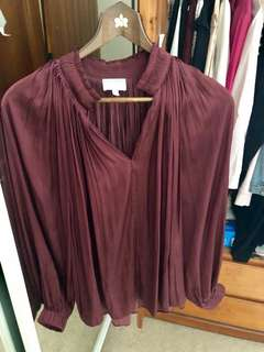 Witchery burgundy top, 8