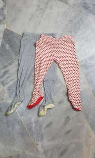 Trousers with socks