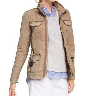 ESPRIT Women's Fashion Casual Long Sleeve Waist Jacket - Beige