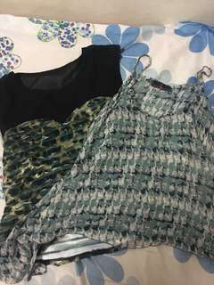 Two printed tops for 150