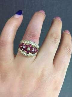 红宝石钻石💠戒指💍
