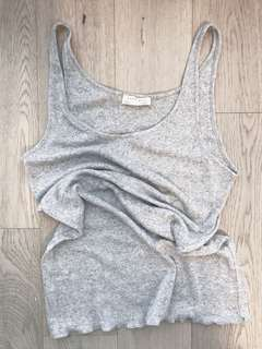 NWOT Zara Knit Tank Top Grey Cami