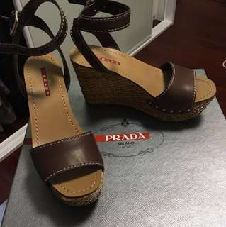 Prada Heeled Wedges