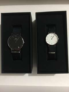 Dainel Wellington Female and Male watch set 情侶表