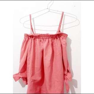 Sabrina blouse peach