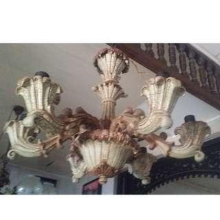 REPRICED 6-bulb Antique Vintage REPRO Chandelier