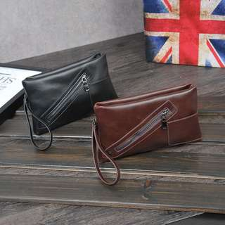 Men's Leather Pouch/Wristlet