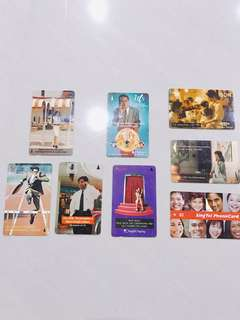 Vintage public used old phone card collection