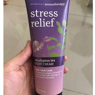 Bath & Body Works Aromatherapy Stress Relief Eucalyptus Tea Body Cream
