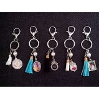 Personalized Tassle keychain with charms Souvenirs wedding baptismal bday