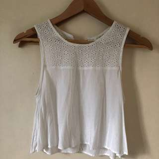 Forever 21 white cotton top