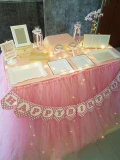 Dessert Table & Backdrop Setup_Birthday_ROM_Wedding / Props Rental Service