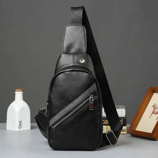 Men's Anti-theft Sling Leather Pouch