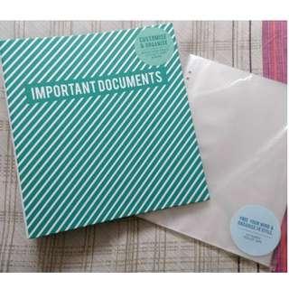 Kikki K - Important Documents folder - Brand New