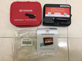 Toyota emergency tyre inflator