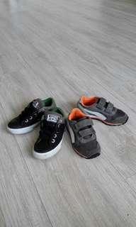 🚚 PUMA 17.5 cm ,Converse18cm 免綁鞋帶 正版童鞋